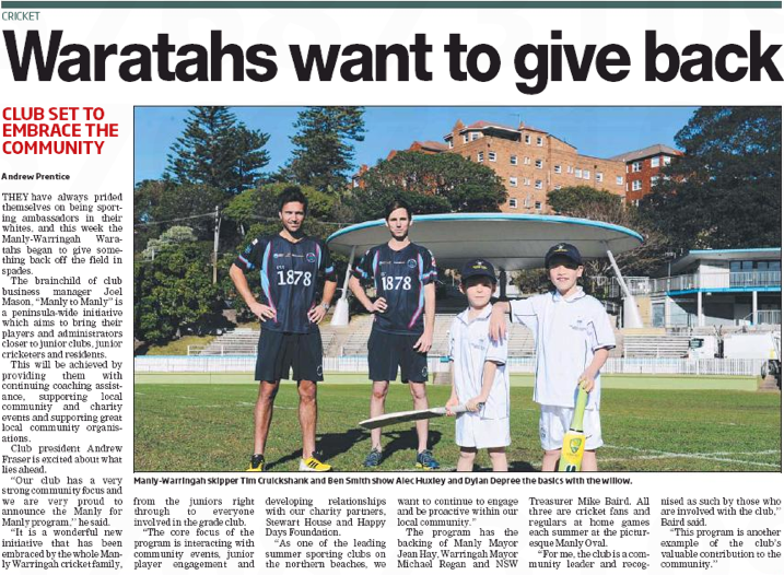 Waratahs Choos To Give Back