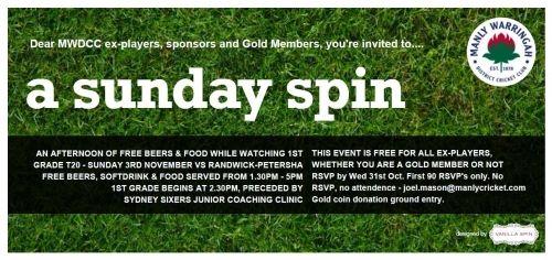 Ex-player Day Invitation - 3rd November 2013-14