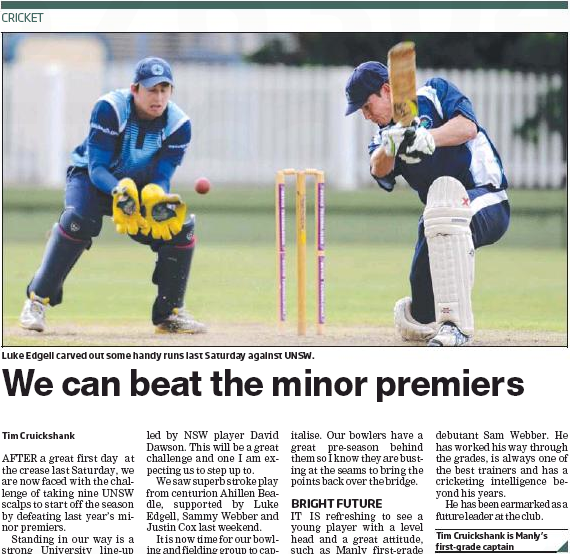 We Can Beat The Minor Premiers