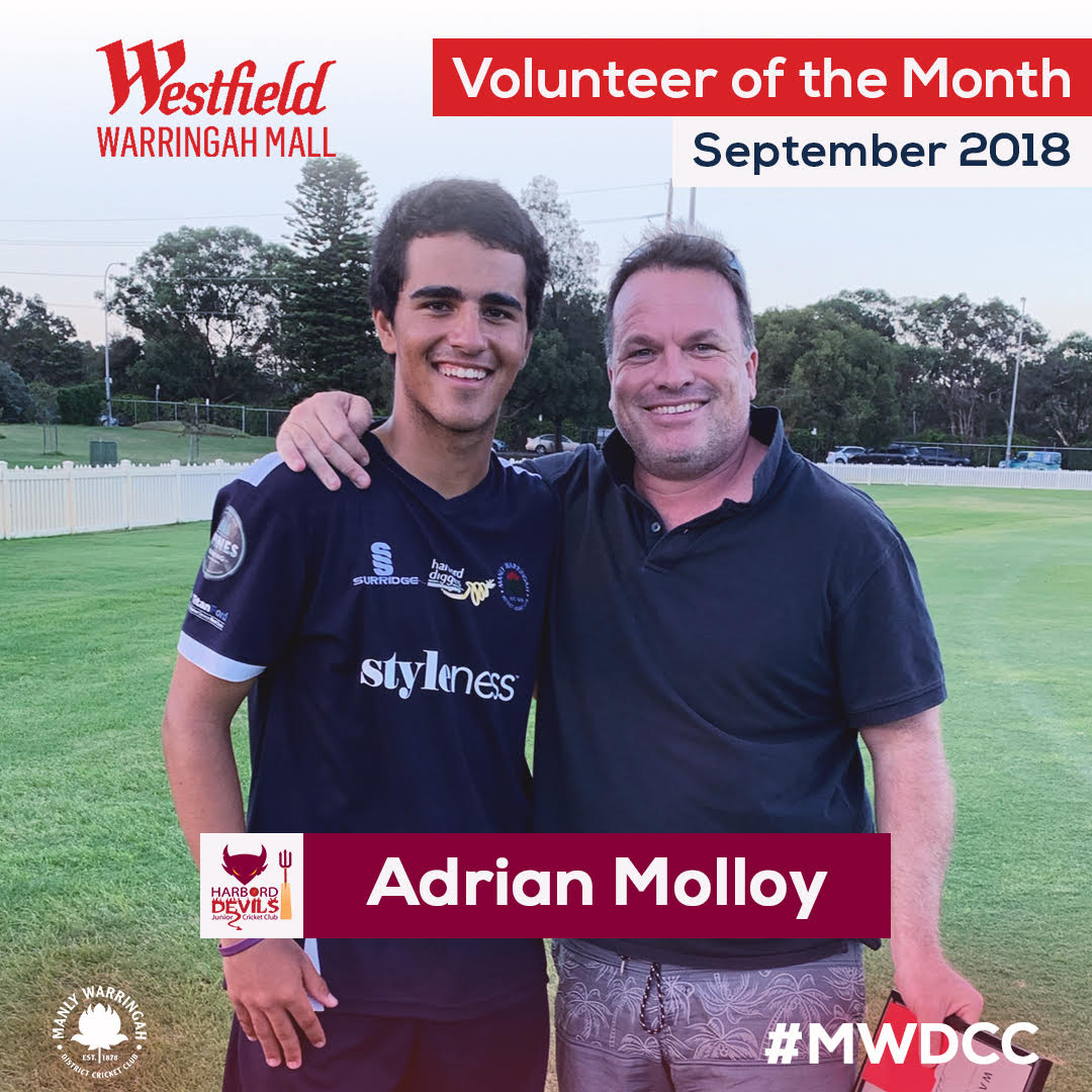 Adrian Molloy Volunteer of the Month