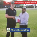 Tharmi Loganathan Volunteer Of The Month award